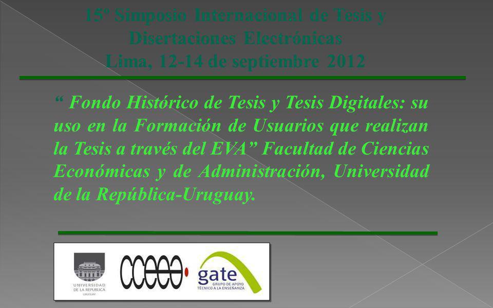 Es el Entorno Virtual de Aprendizaje, plataforma educativa de la Universidad de la República (UDELAR).