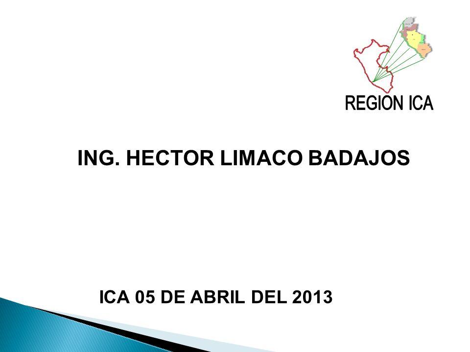 ING. HECTOR LIMACO BADAJOS ICA 05 DE ABRIL DEL 2013