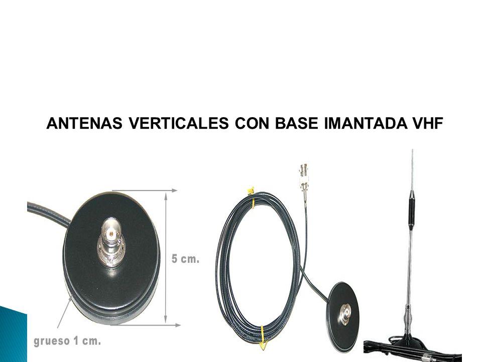 ANTENAS VERTICALES CON BASE IMANTADA VHF