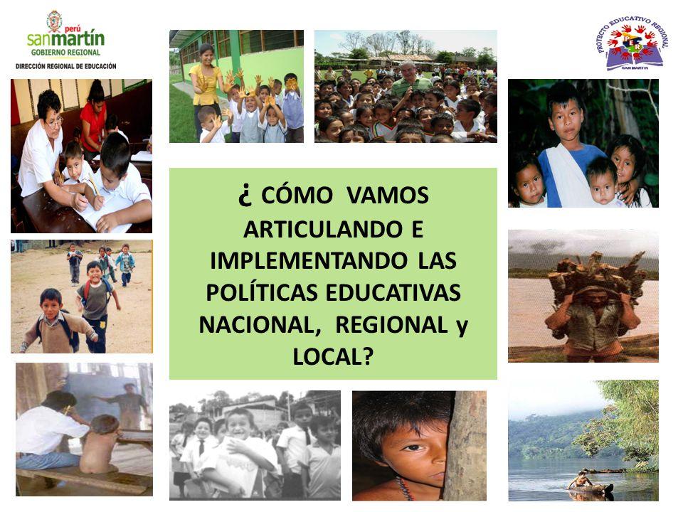 ¿Cómo lo operativizamos.POLÍTICAS EDUCATIVAS NACIONALES Constitución Política del Perú (Cap.