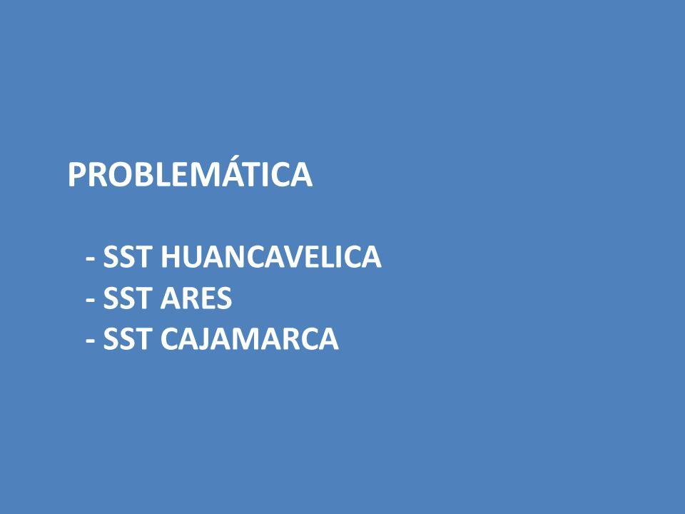 PROBLEMÁTICA - SST HUANCAVELICA - SST ARES - SST CAJAMARCA