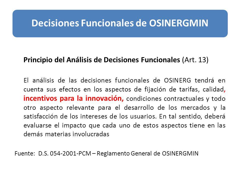 Principio del Análisis de Decisiones Funcionales (Art.