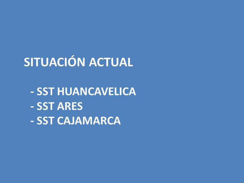 SITUACIÓN ACTUAL - SST HUANCAVELICA - SST ARES - SST CAJAMARCA