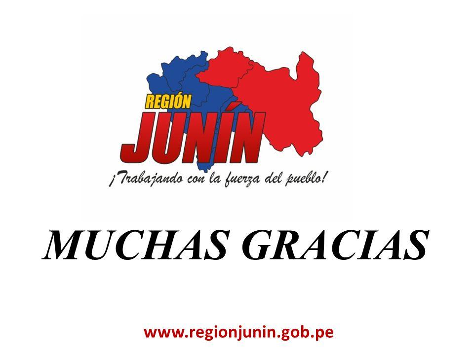 MUCHAS GRACIAS www.regionjunin.gob.pe