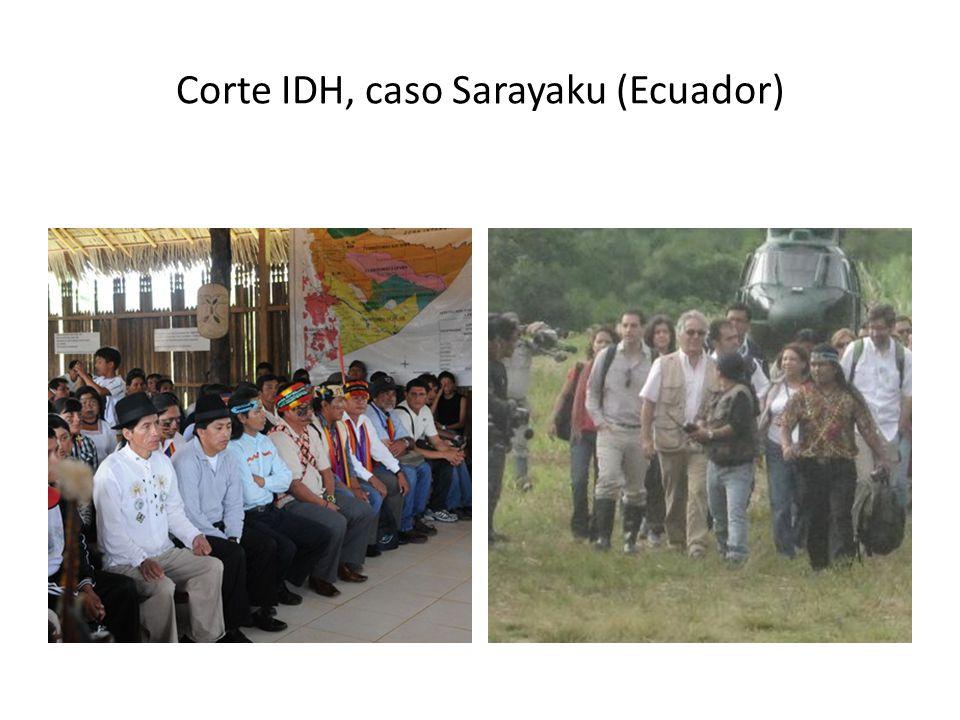 Corte IDH, caso Sarayaku (Ecuador)