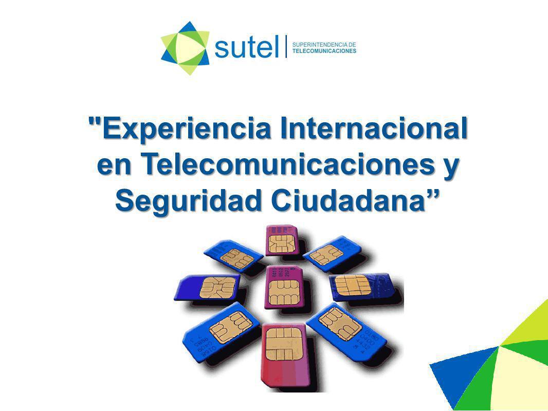 Experiencia Internacional en Telecomunicaciones y Seguridad Ciudadana