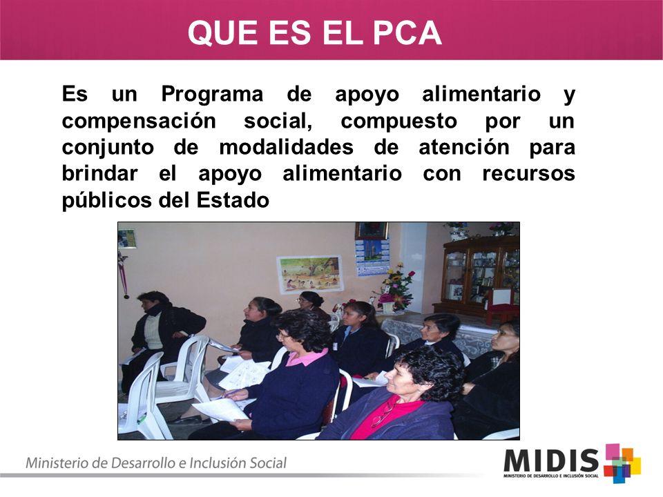 Es un Programa de apoyo alimentario y compensación social, compuesto por un conjunto de modalidades de atención para brindar el apoyo alimentario con
