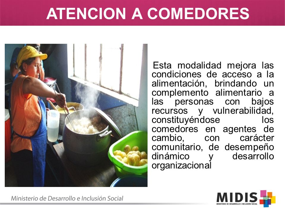 Esta modalidad mejora las condiciones de acceso a la alimentación, brindando un complemento alimentario a las personas con bajos recursos y vulnerabil