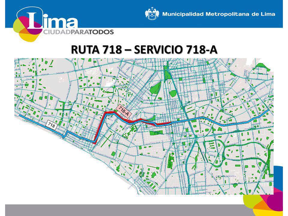 RUTA 718 – SERVICIO 718-A