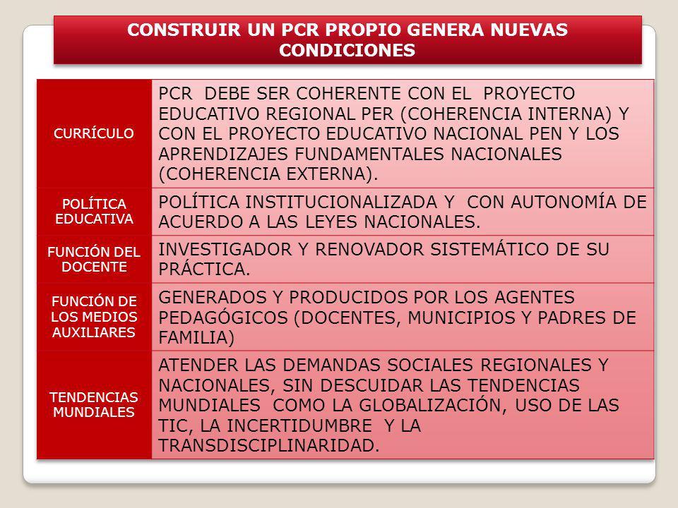 CONSTRUIR UN PCR PROPIO GENERA NUEVAS CONDICIONES