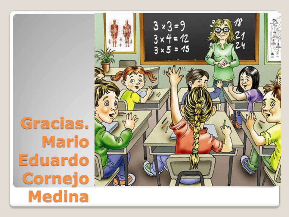 Gracias. Mario Eduardo Cornejo Medina
