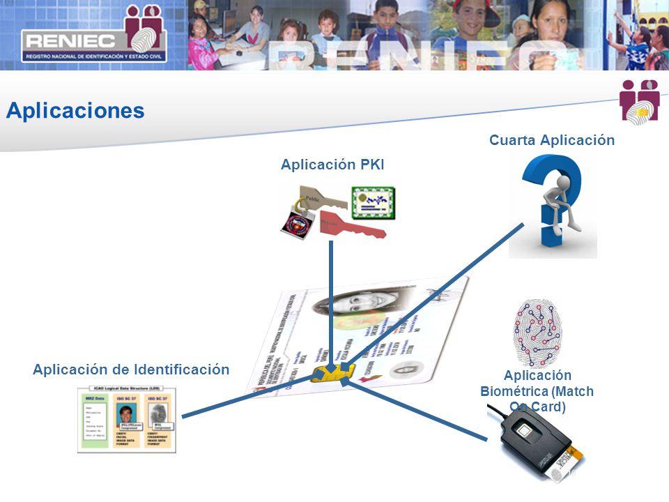 Aplicaciones 10 Aplicación de Identificación Aplicación Biométrica (Match On Card) Aplicación PKI 10 Cuarta Aplicación
