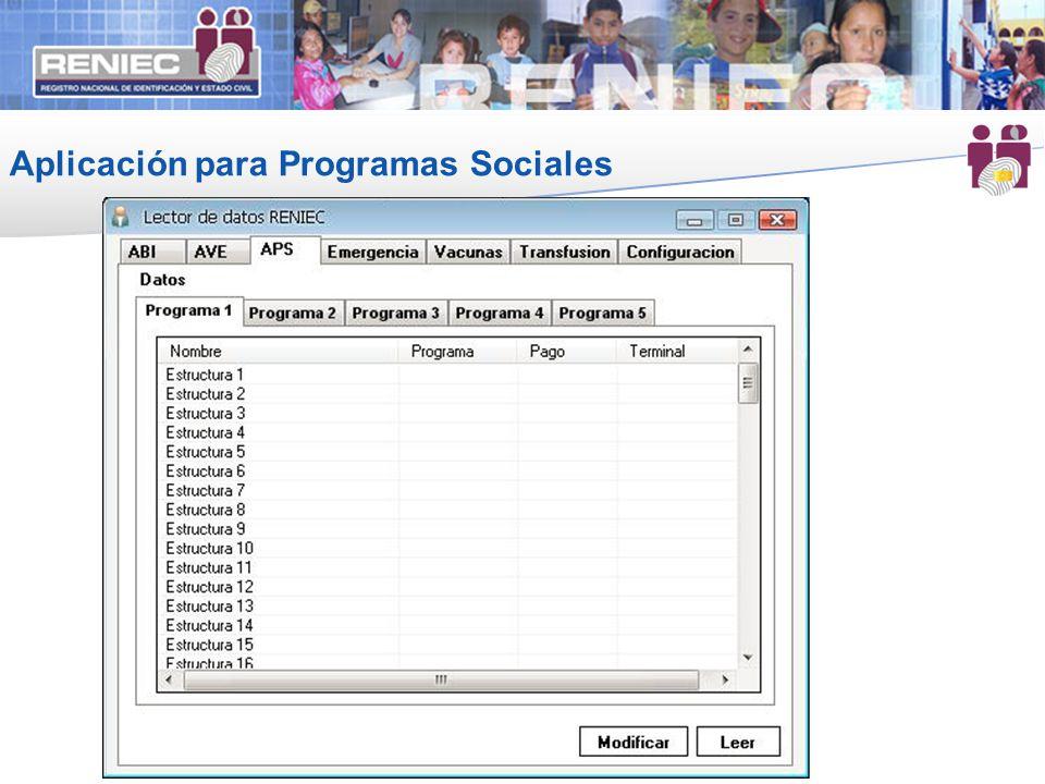 Aplicación para Programas Sociales 17