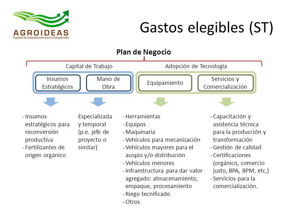 Plan de Negocio Insumos Estratégicos Mano de Obra Equipamiento Servicios y Comercialización -Insumos estratégicos para reconversión productiva -Fertil
