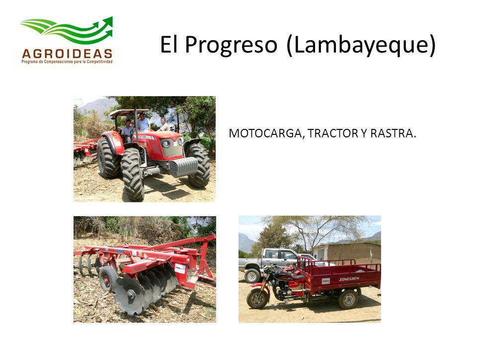 El Progreso (Lambayeque) MOTOCARGA, TRACTOR Y RASTRA.