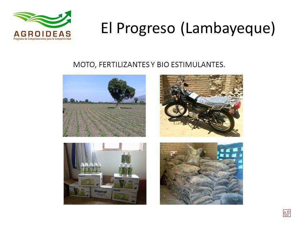 El Progreso (Lambayeque) MOTO, FERTILIZANTES Y BIO ESTIMULANTES.
