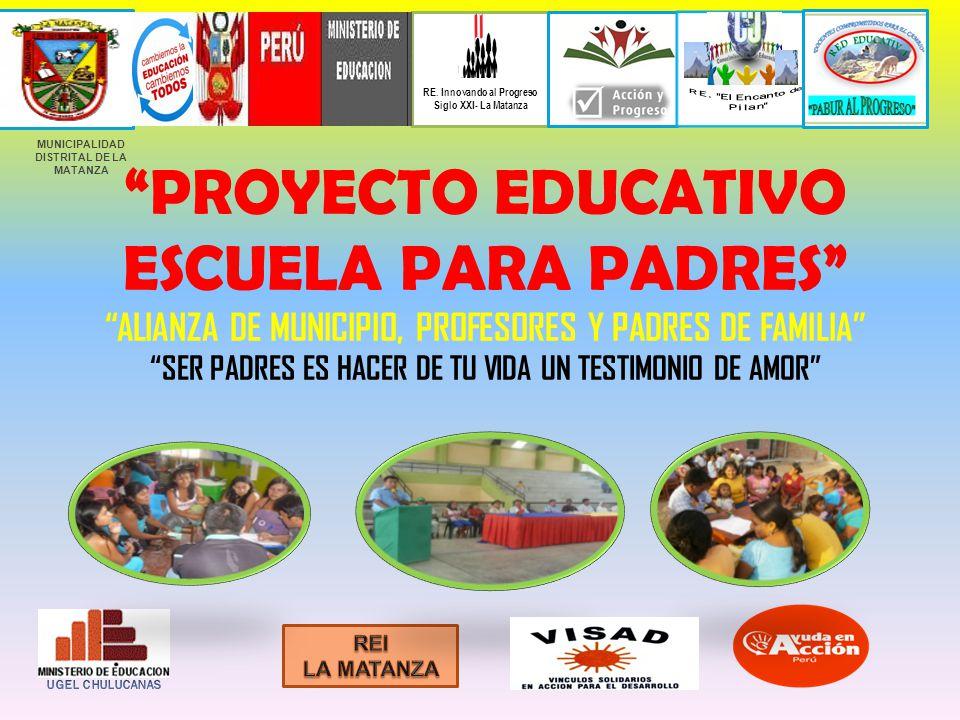 PROYECTO EDUCATIVO ESCUELA PARA PADRES ALIANZA DE MUNICIPIO, PROFESORES Y PADRES DE FAMILIA SER PADRES ES HACER DE TU VIDA UN TESTIMONIO DE AMOR MUNIC