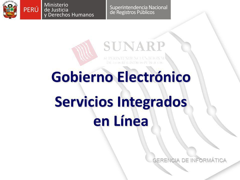 Gobierno Electrónico Servicios Integrados en Línea