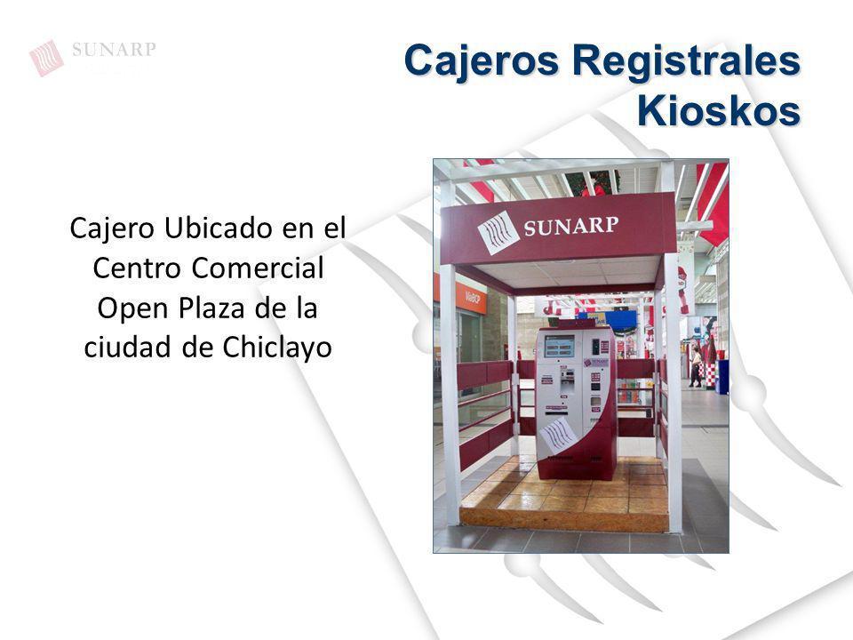 Cajero Ubicado en el Centro Comercial Open Plaza de la ciudad de Chiclayo Cajeros Registrales Kioskos