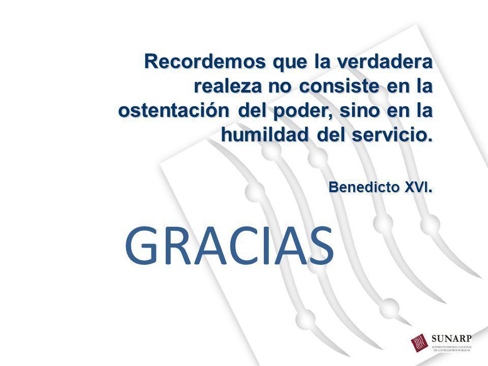 GRACIAS Recordemos que la verdadera realeza no consiste en la ostentación del poder, sino en la humildad del servicio. Benedicto XVI.