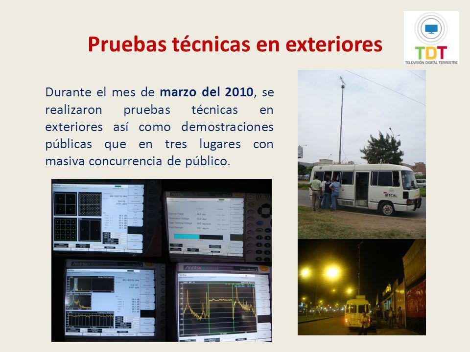 Inicio de transmisiones de televisión digital terrestre El 30 de marzo de 2010 se inició las transmisiones en señal digital del IRTP, organismo radiodifusor estatal, contando para ello con la presencia de altas autoridades de Perú y Japón.