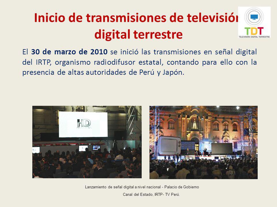 Lanzamiento de la señal digital de la primera empresa privada de radiodifusión comercial El 31 de marzo de 2010, se realizó el lanzamiento de la señal digital de la primera empresa privada de radiodifusión comercial (ATV).