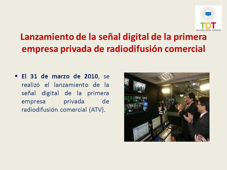 Segunda Reunión del Grupo de Trabajo conjunto Perú-Japón El 31 de marzo de 2010 se llevó a cabo la Segunda Reunión del grupo de trabajo conjunto Perú-Japón sobre televisión digital, en el que se trataron aspectos tales como financiamiento y sistema de alerta de emergencia.
