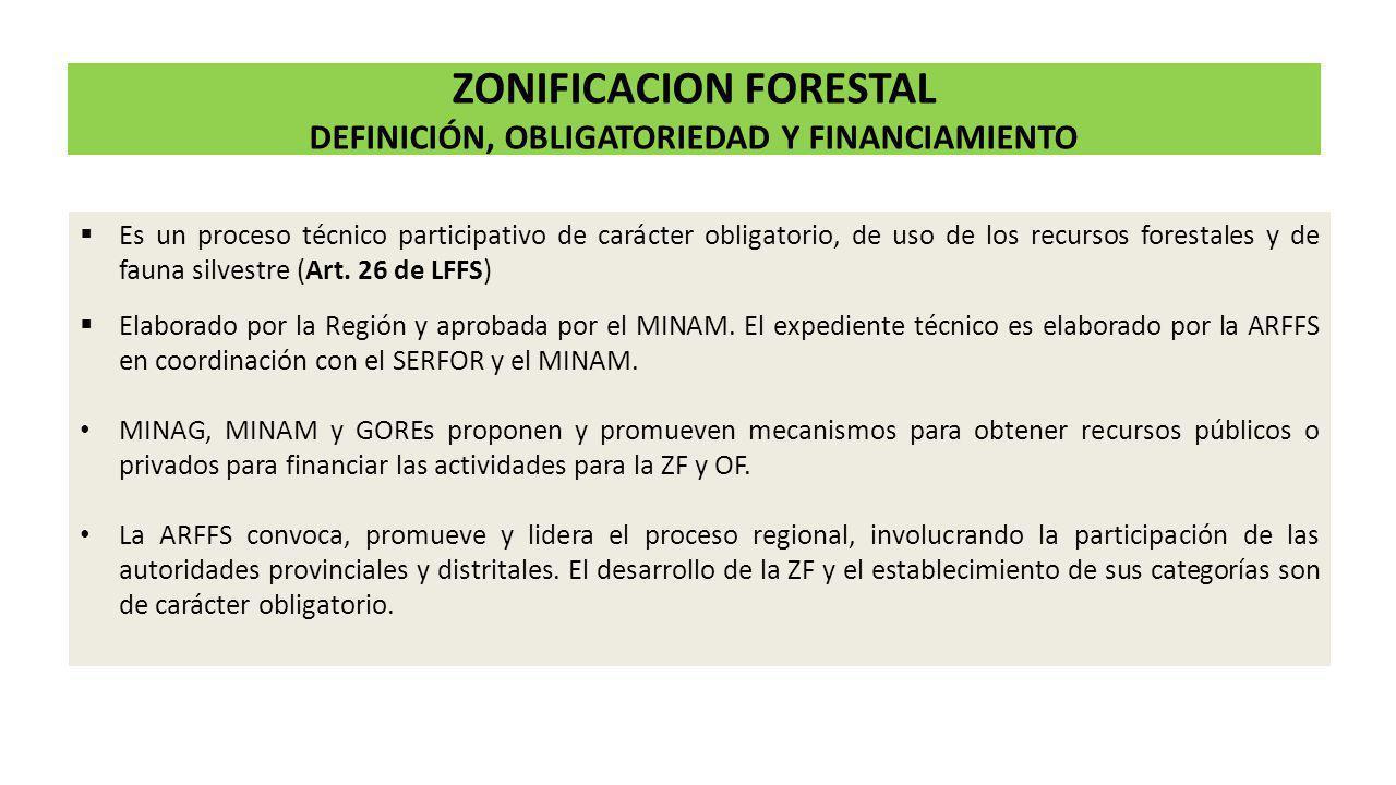 Se considerarán los siguientes casos: En regiones que cuente con ZEE, la ZF seguirá las etapas consideradas en el reglamento.