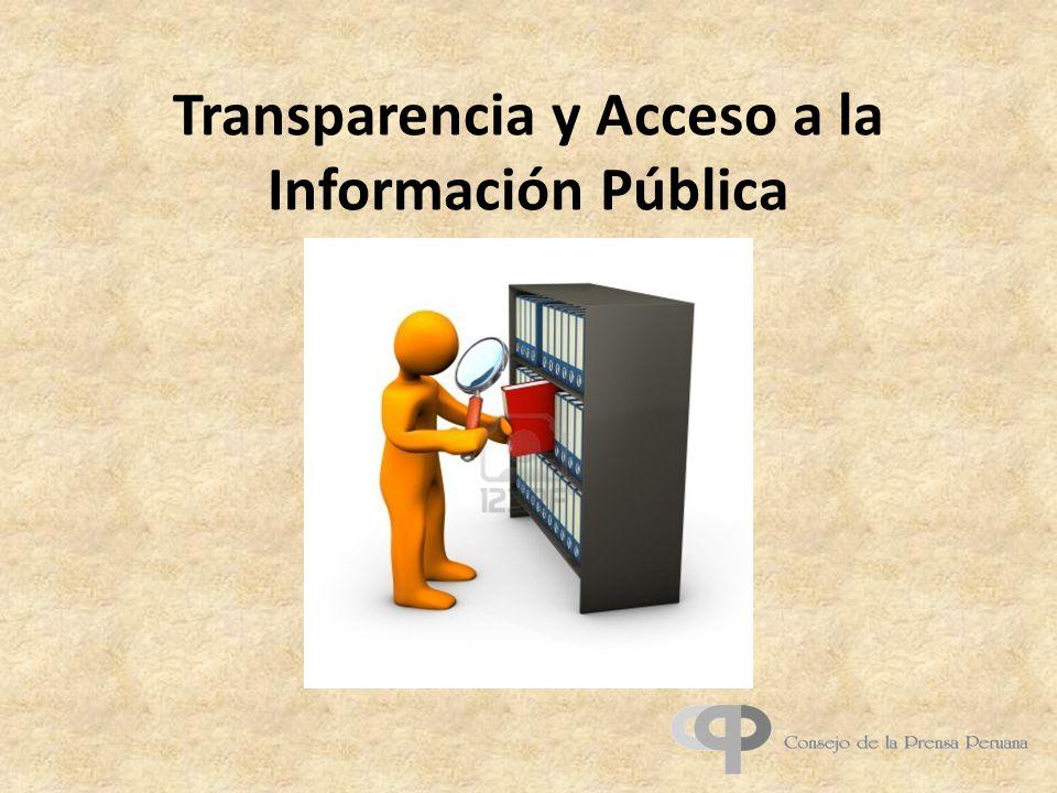 Transparencia y Acceso a la Información Pública