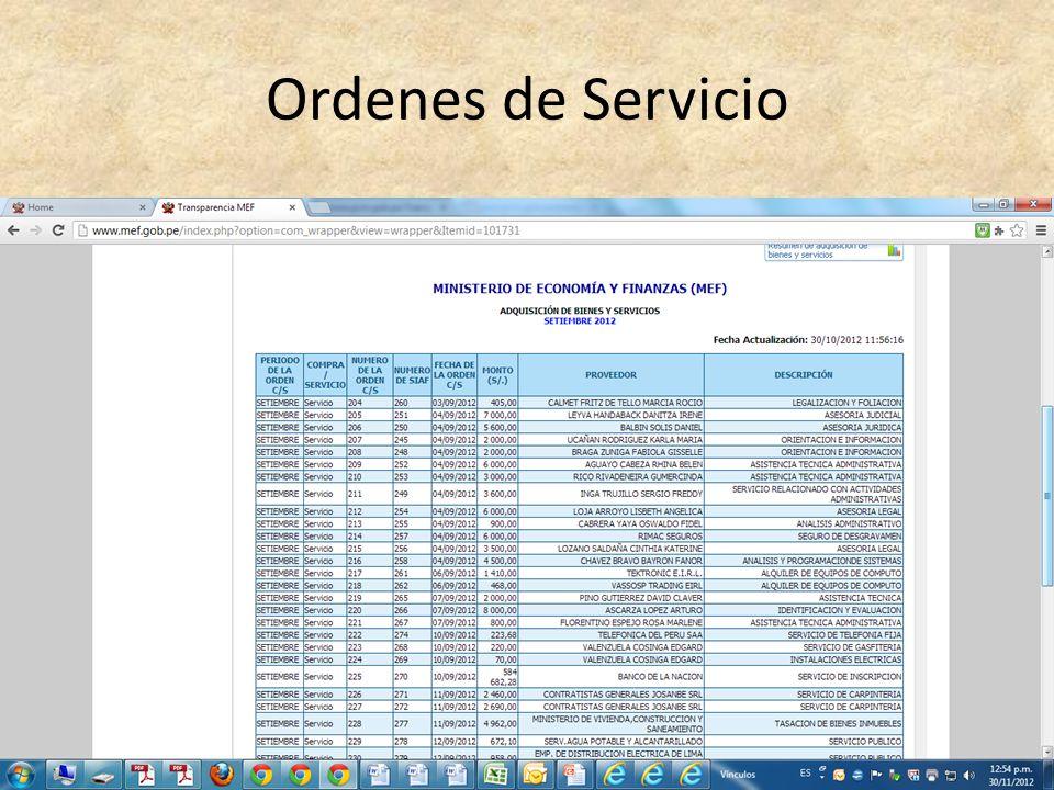 Ordenes de Servicio