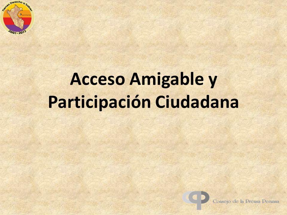 Acceso Amigable y Participación Ciudadana