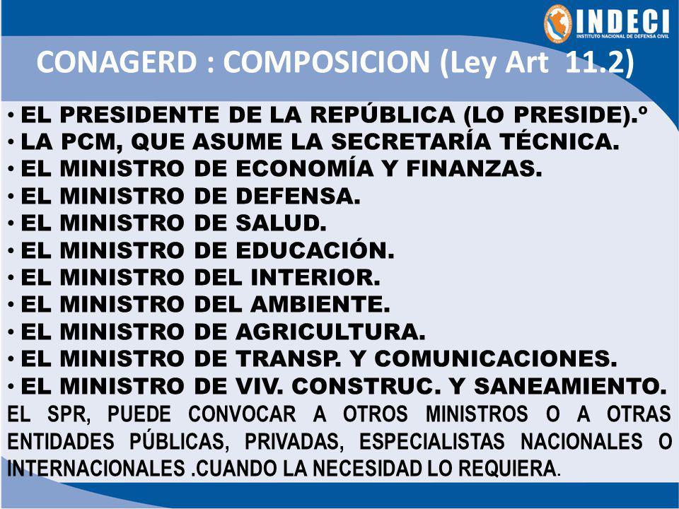 HIPOTESIS: NIVEL DE EMERGENCIA 4 y 5, QUE SUSTENTE UNA DECLARATORIA DE ESTADO DE EMERGENCIA DESASTRE .