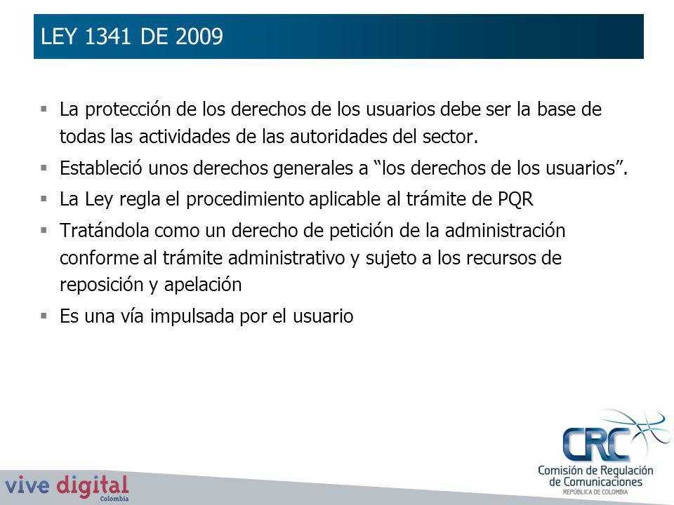 La protección de los derechos de los usuarios debe ser la base de todas las actividades de las autoridades del sector. Estableció unos derechos genera
