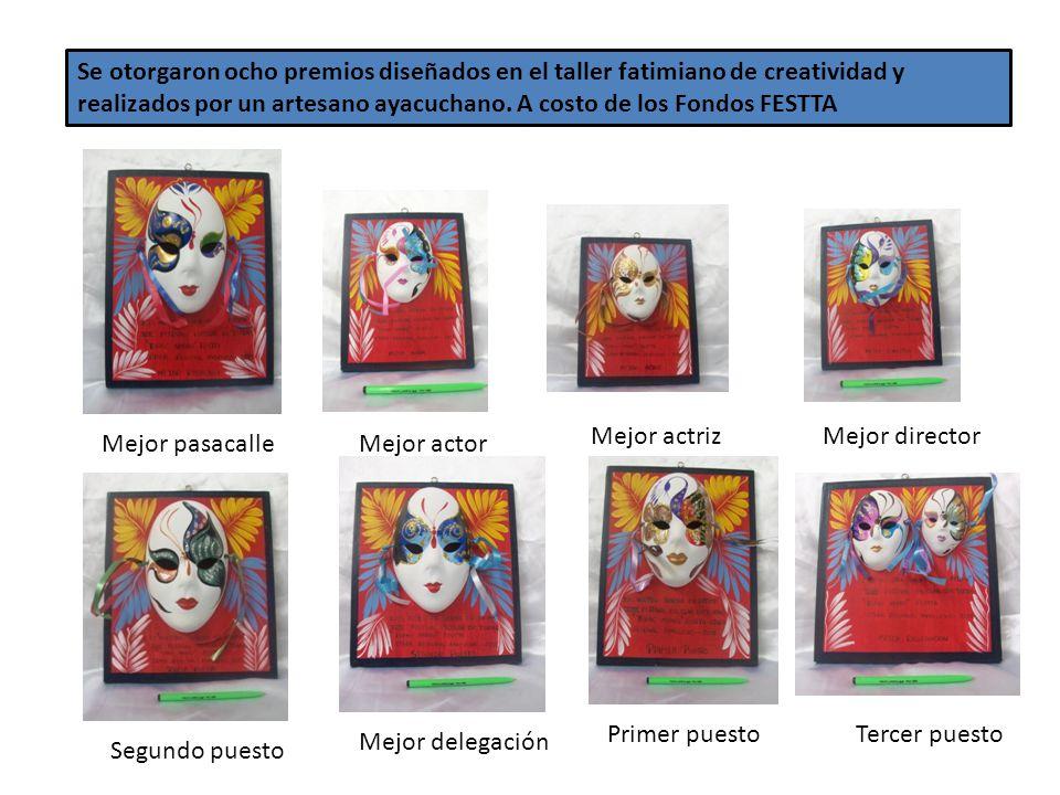 Se otorgaron ocho premios diseñados en el taller fatimiano de creatividad y realizados por un artesano ayacuchano.