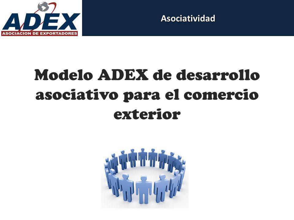 Modelo ADEX de desarrollo asociativo para el comercio exteriorAsociatividad