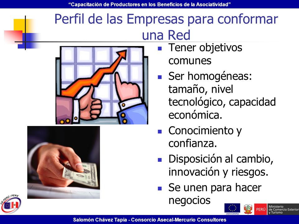 Capacitación de Productores en los Beneficios de la Asociatividad Salomón Chávez Tapia - Consorcio Asecal-Mercurio Consultores Perfil de las Empresas