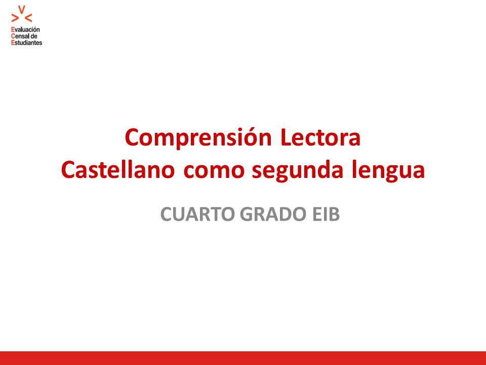 Comprensión Lectora Castellano como segunda lengua CUARTO GRADO EIB