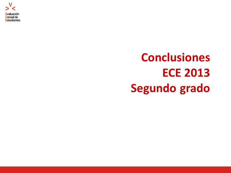 Conclusiones ECE 2013 Segundo grado