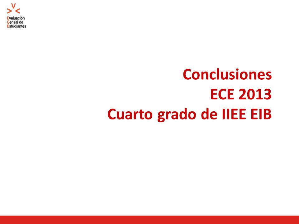 Conclusiones ECE 2013 Cuarto grado de IIEE EIB