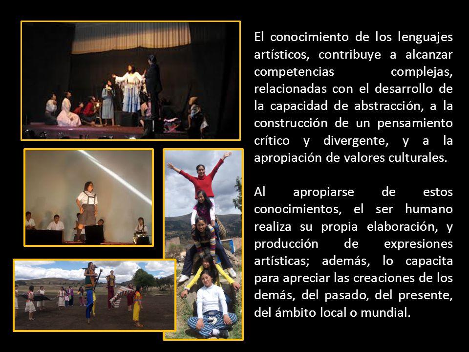 El conocimiento de los lenguajes artísticos, contribuye a alcanzar competencias complejas, relacionadas con el desarrollo de la capacidad de abstracci