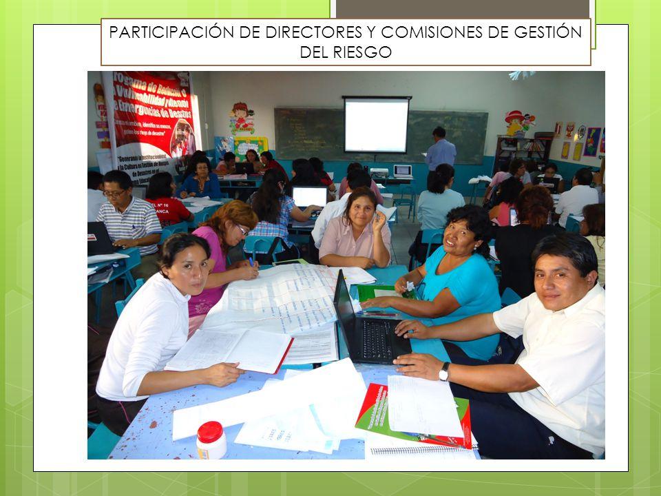 PARTICIPACIÓN DE DIRECTORES Y COMISIONES DE GESTIÓN DEL RIESGO