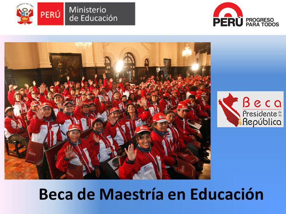 Universidades Elegibles (Lima) Maestría en Didáctica de la Enseñanza en Educación Inicial.