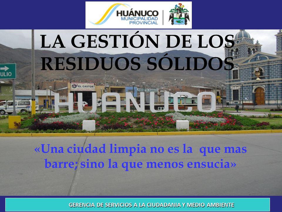 PRESENTACIÓN Los problemas de la ciudad de Huánuco son múltiples y su solución requiere de la participación de todos y cada uno de los que habitamos en ellas.