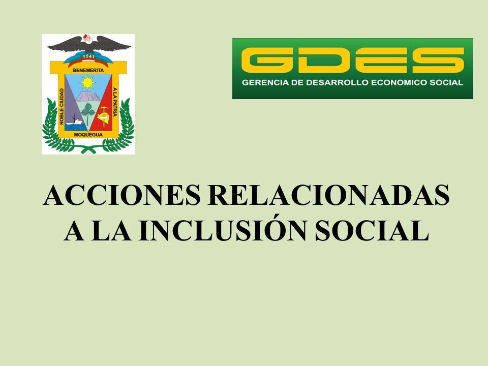 ACCIONES RELACIONADAS A LA INCLUSIÓN SOCIAL