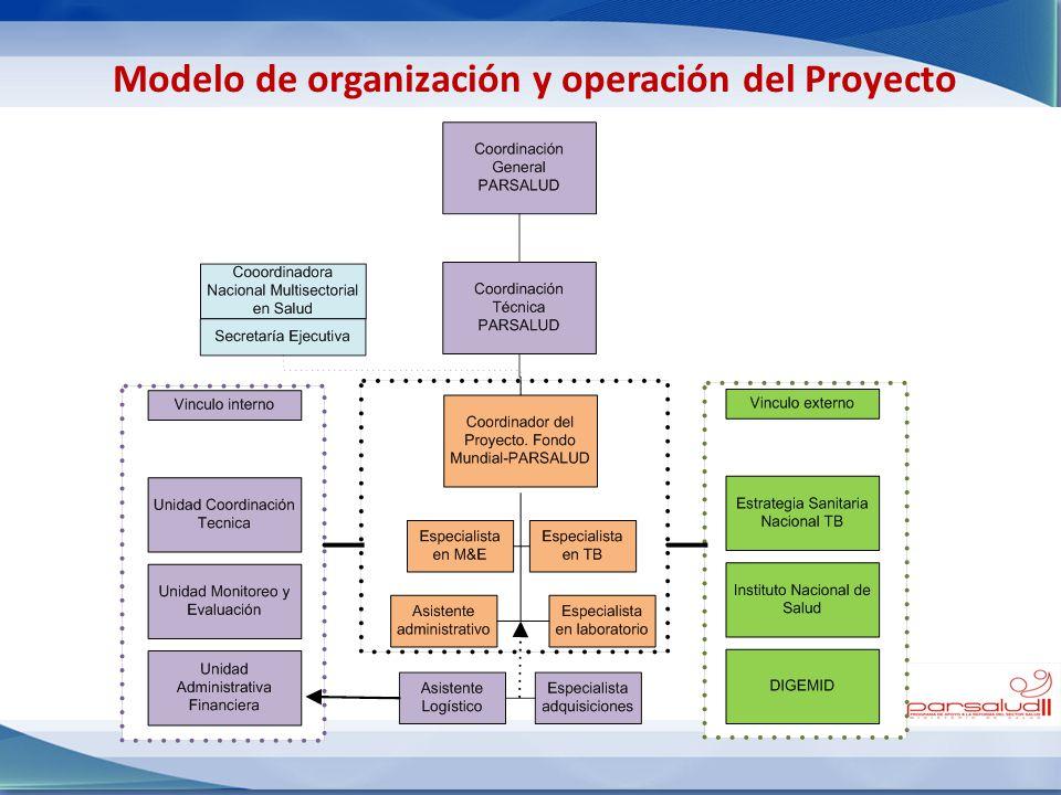 Modelo de organización y operación del Proyecto
