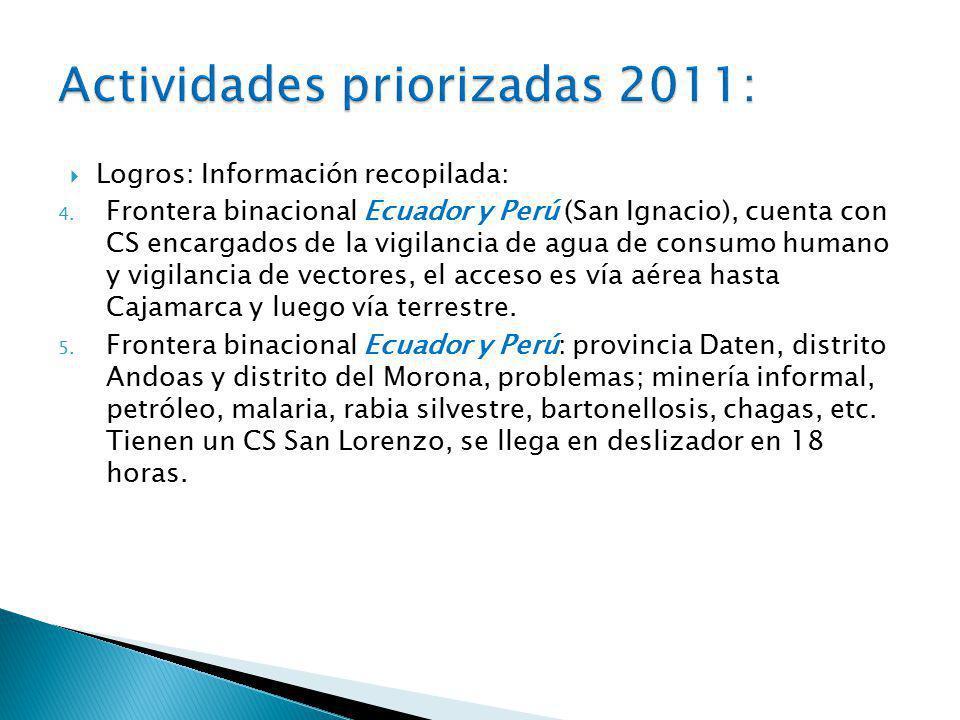 Logros: Información recopilada: 4.