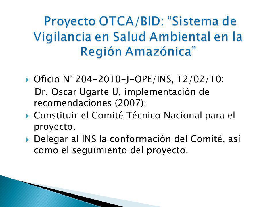 Oficio N° 204-2010-J-OPE/INS, 12/02/10: Dr.