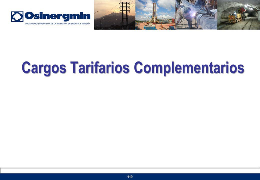 Cargos Tarifarios Complementarios 110