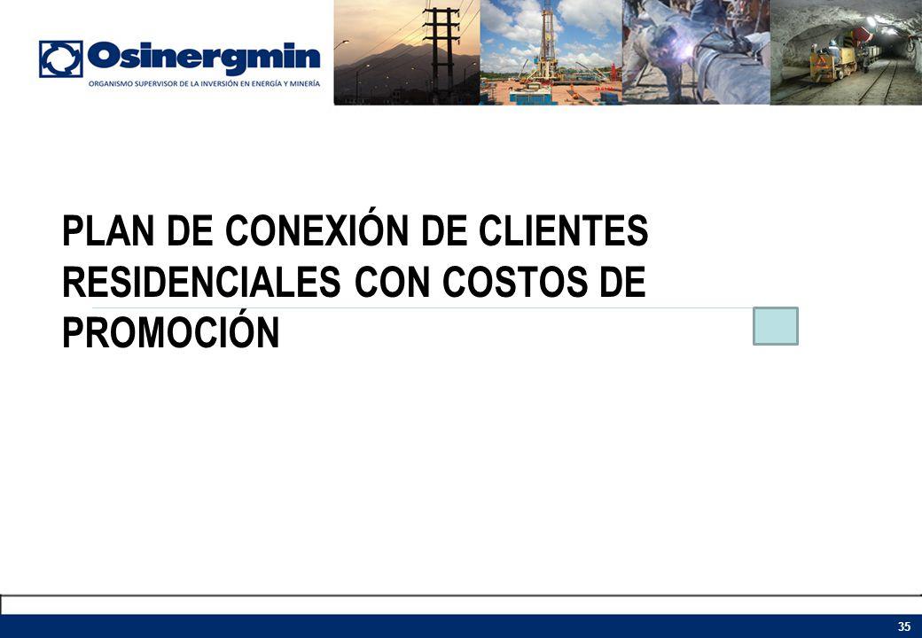 PLAN DE CONEXIÓN DE CLIENTES RESIDENCIALES CON COSTOS DE PROMOCIÓN 35