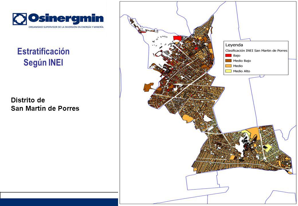 Estratificación Según INEI 44 Distrito de San Martín de Porres